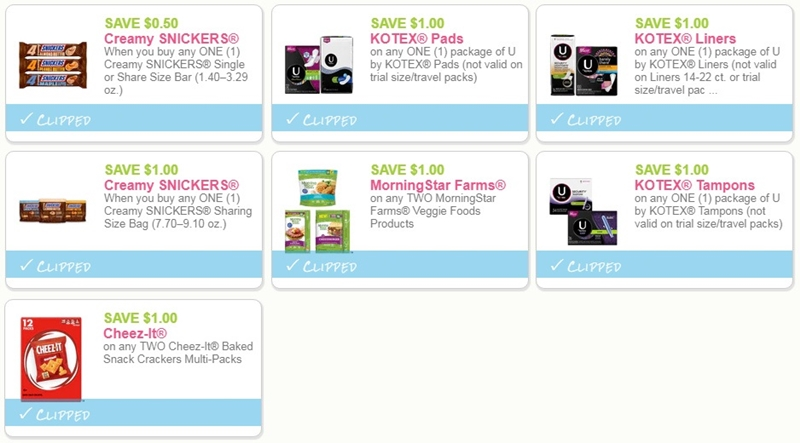 graphic about Kotex Printable Coupons named i ♥ coupon codes: previous possibility snickers, kotex, morningstar