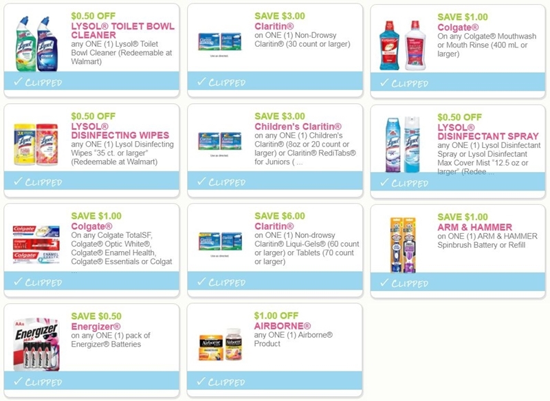picture relating to Lysol Printable Coupons referred to as i ♥ coupon codes: final prospect discount codes for colgate, claritin