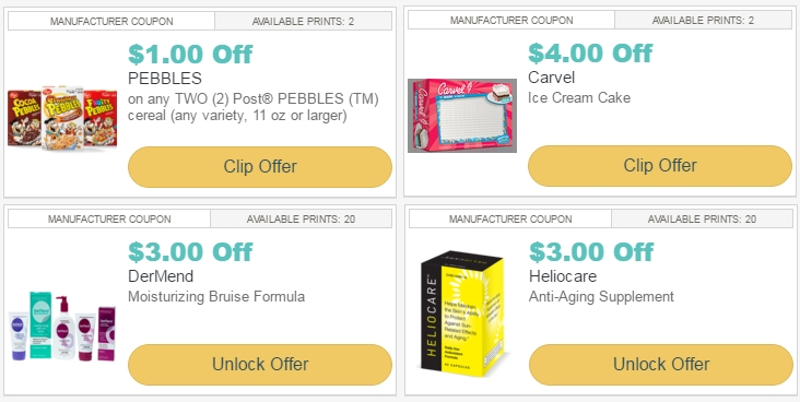 graphic relating to Carvel Coupon Printable identified as i ♥ discount coupons: fresh printable coupon codes for article pebbles cereal