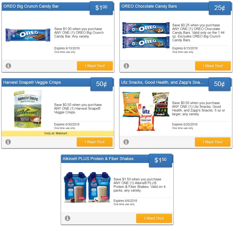i ♥ coupons: new savingstar offers for oreo candy bars, utz